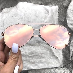 TopFoxx Aviators Rose Gold Aviator Sunglasses